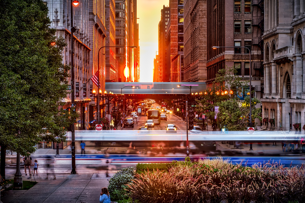 Chicago Henge - Rush Hour