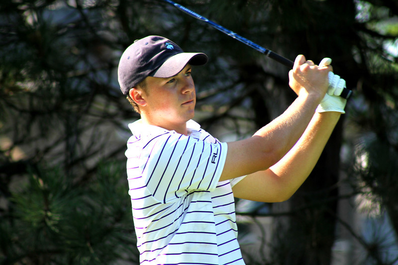 Round one co-leader Jordan Spieth, 18, of Dallas, Texas, tees off in the second round Wednesday.