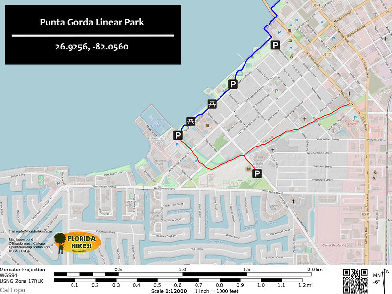 Punta Gorda Linear Park Trail Map
