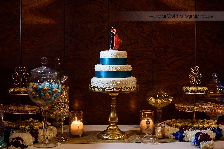 wedding cake at Brazilian Room - Tilden Regional Park, Berkeley