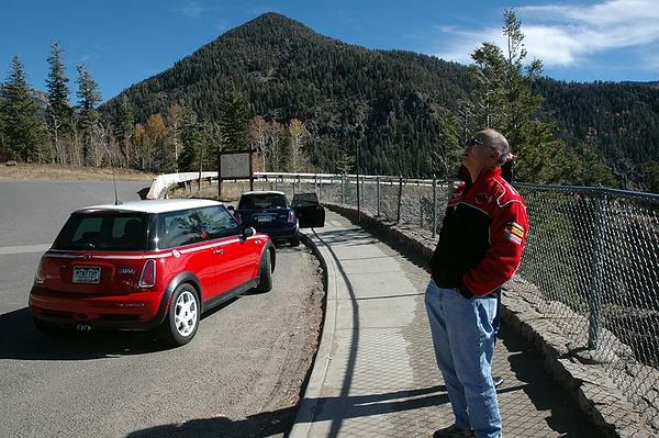 Wolf Creek Pass scenic overlook (west side).