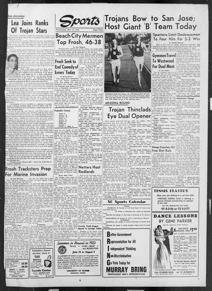 Daily Trojan, Vol. 44, No. 97, March 18, 1953