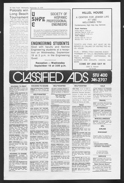Daily Trojan, Vol. 87, No. 3, September 19, 1979
