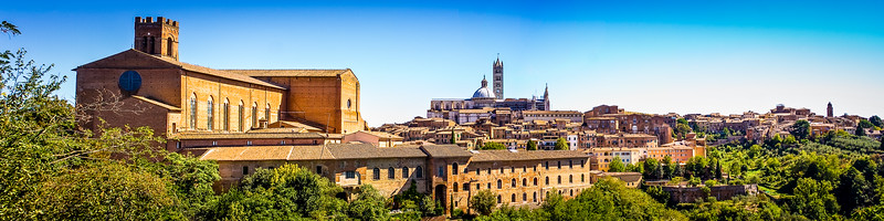 Hill town of Siena,