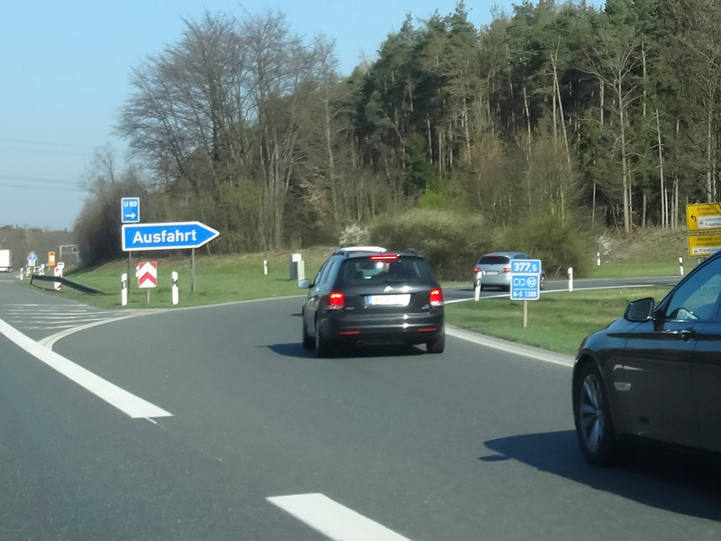 """Ausfahrt ... means """"Exit"""" in German. Funny name"""