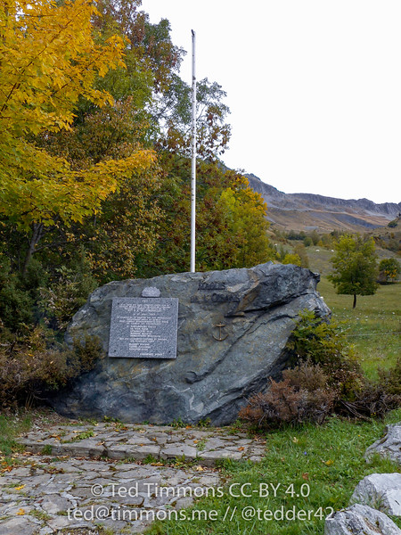 "Monument to the ""Maquis l'Oisans"" (resistance fighters) who fought against the 157th Mountain Divison of the Wehrmacht."