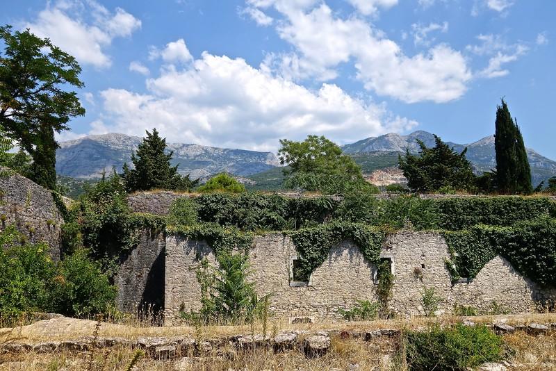 inside the Spanish Fortress ruins in Herceg Novi