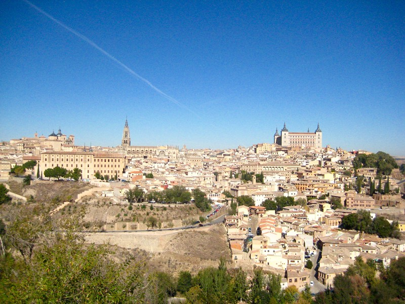 View of historical buildings on a day trip to Toledo, Spain.