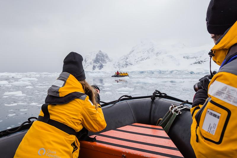 zodiac safari in Antarctica