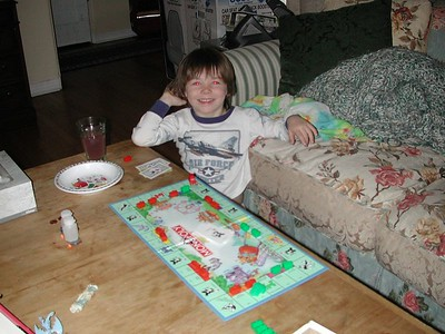 Dalton Playing Monopoly- February 7, 2003