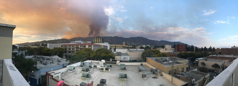 2017 0901 Burbank Verdugo Mountain Fire