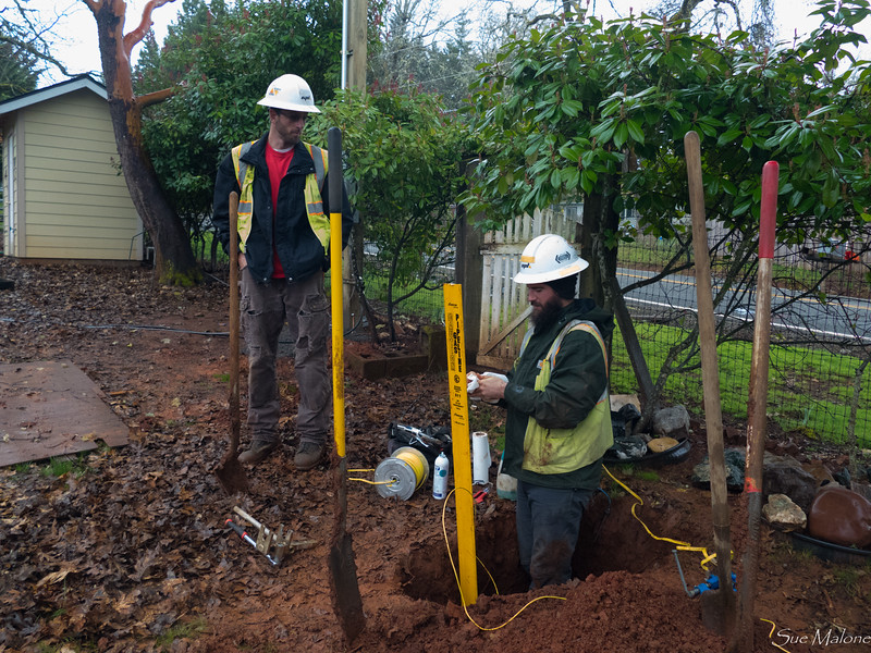 Pipeline post ready for the new gas service when the house is finished