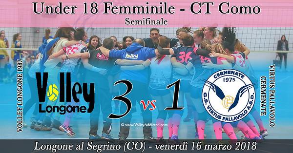 CO-U18f Semifinale: Volley Longone - Virtus Cermenate