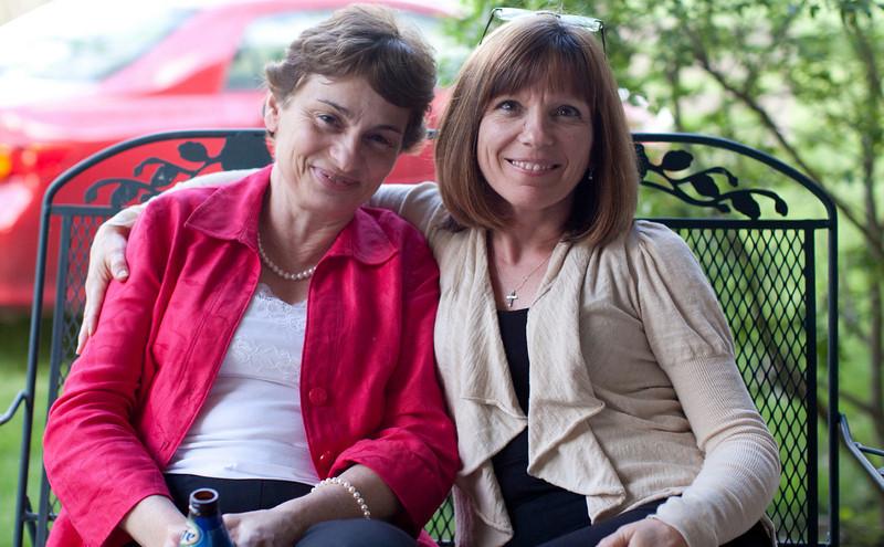 Cathy David and Cindy Grabiec on May 7, 2011.  (Jay Grabiec)