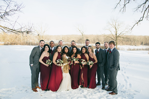 First Look + Bridal Party
