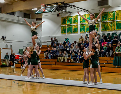 Vashon Island High School Winter Cheer at Basketball v Cascade Christian 01/15/2019