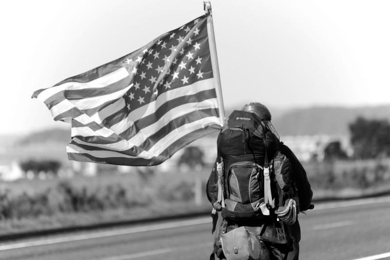 Flag Bearer _ bw