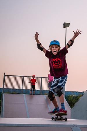 Skatepark with Finn - April 2017