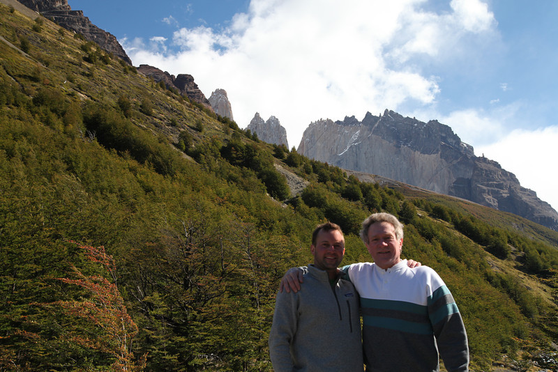 A father-son shot on the way back from Base Torres del Paine.