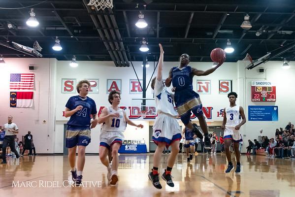 Broughton boys varsity basketball vs Sanderson. February 12, 2019. 750_6318