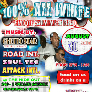 100% All White End Of Summer BBQ (8.30.14)