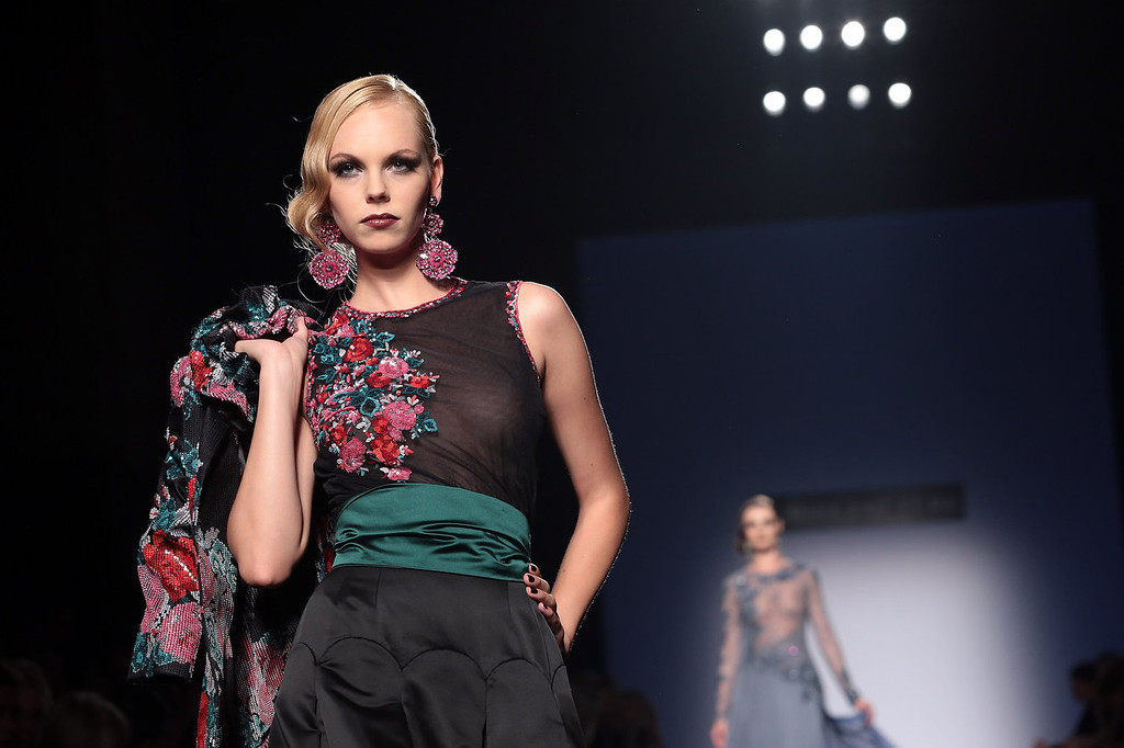 . A model walks the runway during Curiel Couture F/W 2013-2014 Haute Couture collection fashion show as part of AltaRoma AltaModa Fashion Week at Santo Spirito In Sassia on July 8, 2013 in Rome, Italy. on July 8, 2013 in Rome, Italy.  (Photo by Elisabetta Villa/Getty Images)