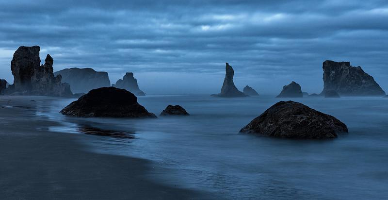 Sea Stacks before Sunrise