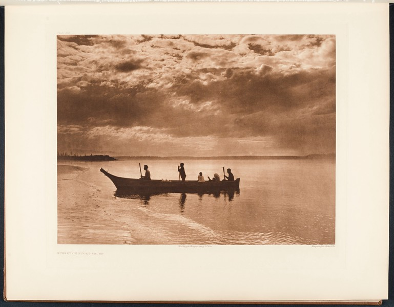 The North American Indian, vol. 9 suppl., pl. 316. Sunset on Puget Sound