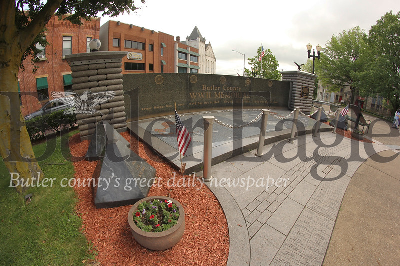 Butler World War II Memorial on Main St across from the courthouse. Seb Foltz/Butler Eagle