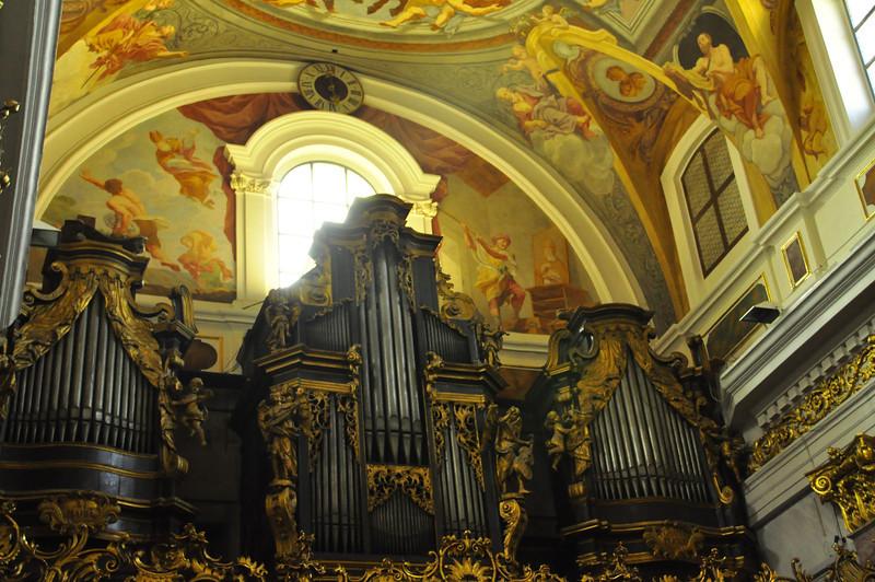magnificent cathedral organ in Ljubljana