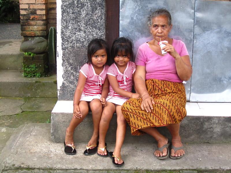 Local family, Ubud, Bali, Indonesia