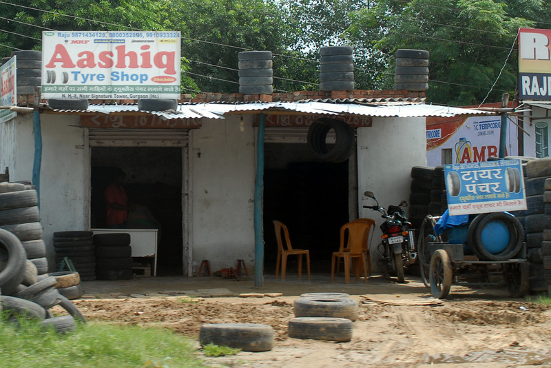 Tire repair shop.