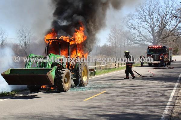 4/29/18 - Onondaga tractor fire, 4084 Byrum Rd