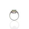 4.05ct Emerald and Old European Cut Diamond Ring 5
