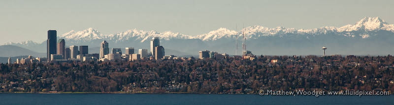 Seattle Skyline Snow Cap