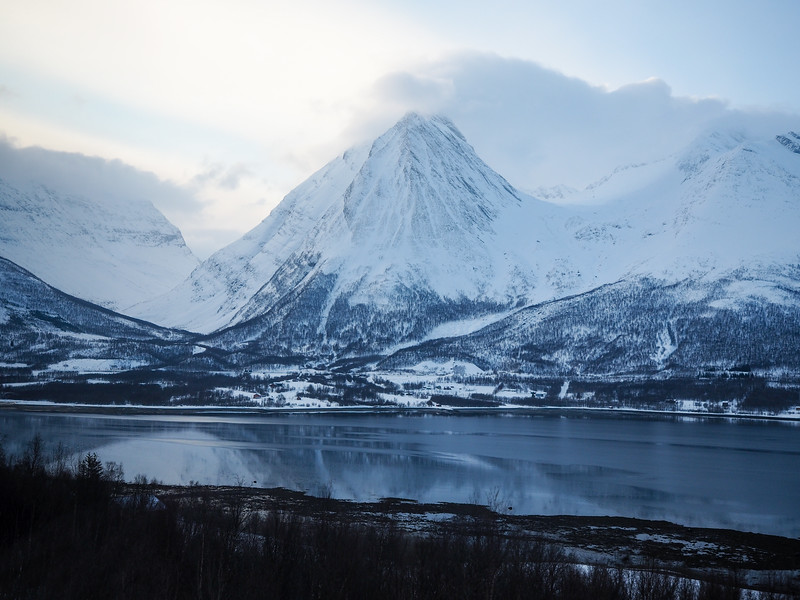 Snowy mountains in Norway