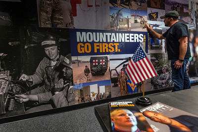 35120 WVU Veteran and Military Family Support Headquarters Wall Wrap Install November 2018