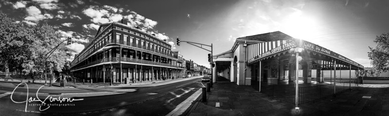 French Quarter during a Pandemic in B&W   May 2020