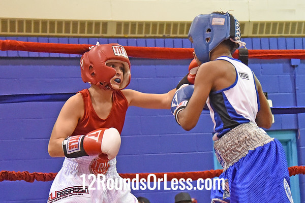 Bout 7 Tim Christain, BSBA, Akron, Blue Gloves -vs- Isaiah Johnson, Dover, OH, Red Gloves, 90 Lbs.