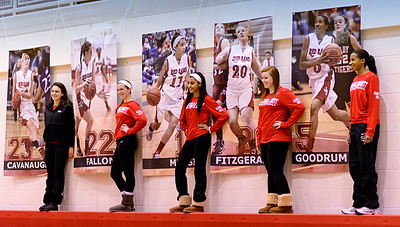 Jamesville DeWitt Girls Basketball Senior Night 2013