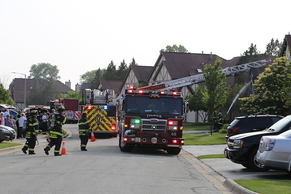 Wood Dale Townhouse fire, 6-20-2018