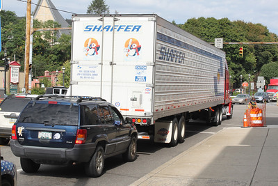 Stuck Truck, SR309, SR209, Tamaqua (9-30-2011)
