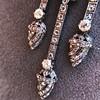 1.63ctw Victorian Triple Drop Diamond Necklace 20