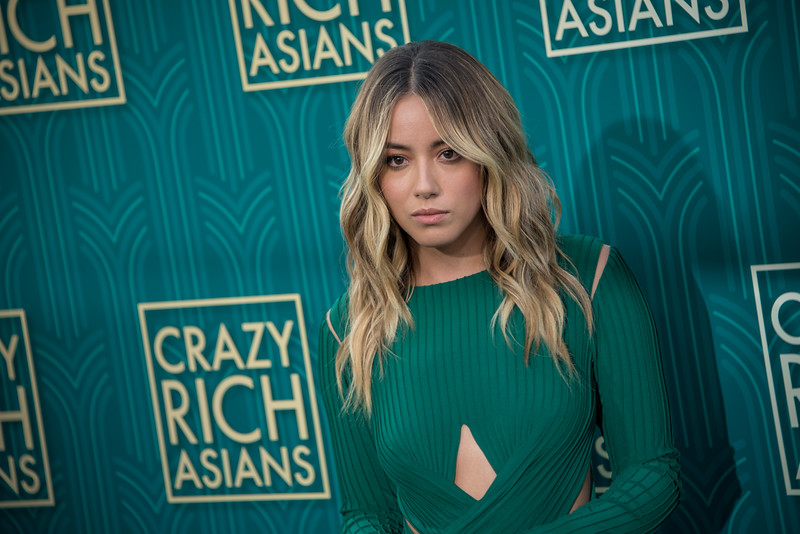 HOLLYWOOD, CA - AUGUST 07: Chloe Bennet arrives at Warner Bros. Pictures' 'Crazy Rich Asians' Premiere at TCL Chinese Theatre IMAX on Tuesday, August 7, 2018 in Hollywood, California. (Photo by Tom Sorensen/Moovieboy Pictures)