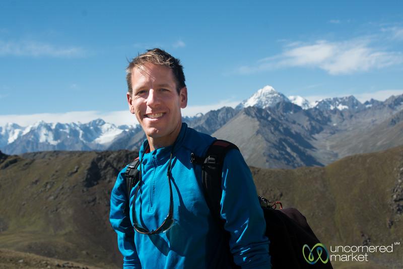 Dan at Terim Tor Bulak Pass - Jyrgalan Trek, Kyrgyzstan