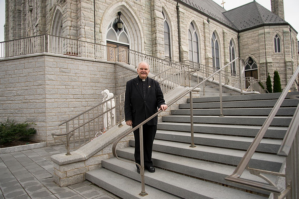 10/17/19 Wesley Bunnell | StaffrrMonsignor Daniel J. Plocharczyk, Pastor of Sacred Heart Church, on Thursday October 17, 2019 during a tour of the church. The church is celebrating its 125th year.