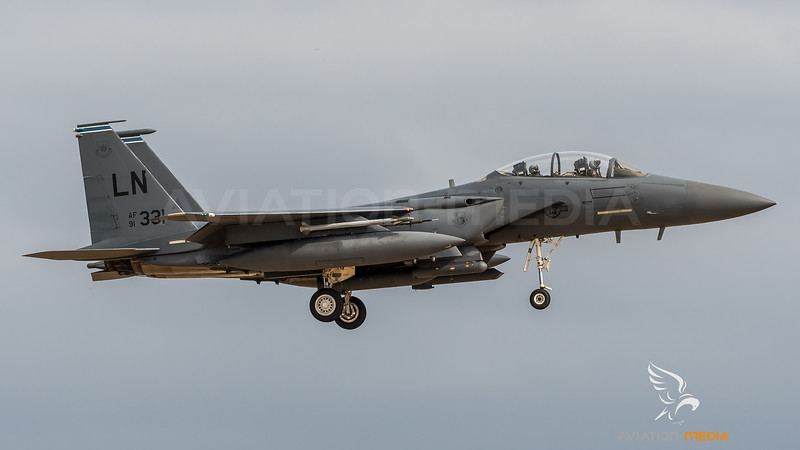 USAF 492 FS / Boeing F-15E Strike Eagle / 91-0331 LN