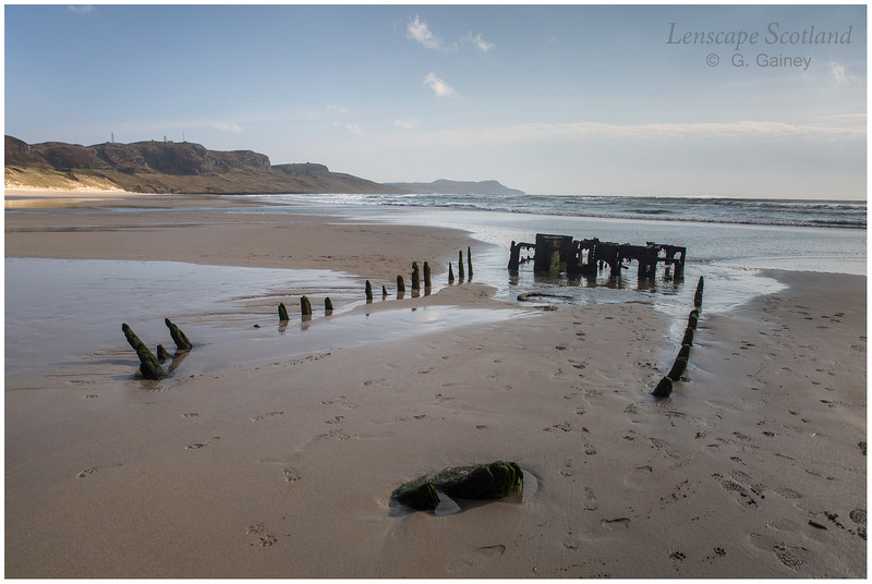 Machir Beach - remains of old shipwreck (1)