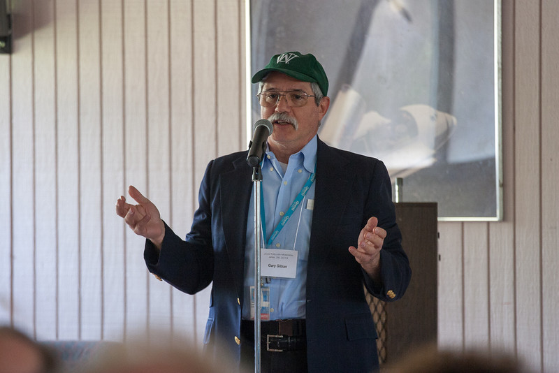 Gary Gibian (grad school roommate at WUSTL) wih Washington  University baseball hat -- Jack Tueller Memorial Symposium, NASA/Goddard Space Flight Center, Greenbelt, MD, April 26, 2013
