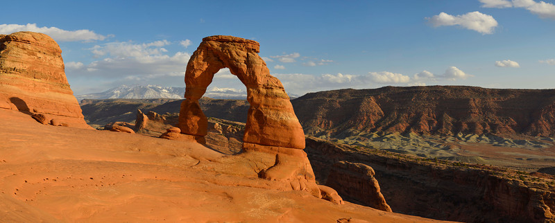 Delicate Arch pano, Arches National Park, Utah
